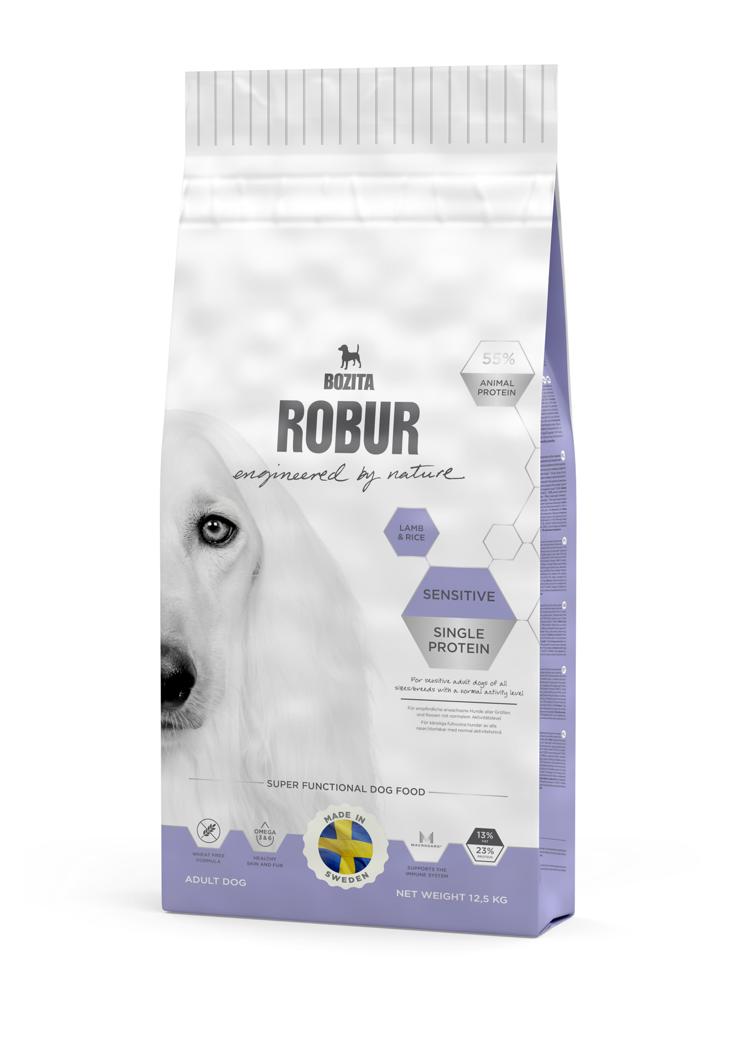 Bozita Robur Sensitive Single Protein Lamb & Rice 12,5kg