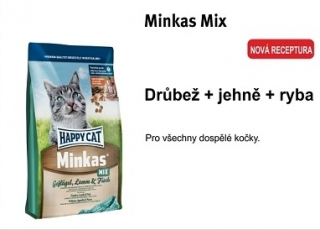 Happy Cat Minkas MIX Geflügel, lamm & fish 10kg
